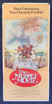 The Muppet Movie Movie Movie Poster Daybill Original Kermit Miss Piggy