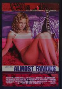 Almost Famous Movie Poster Original One Sheet Rolled 2000 Sexy Kate Hudson