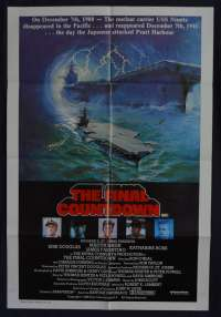 The Final Countdown Movie Poster Original One Sheet 1980 Cast Artwork