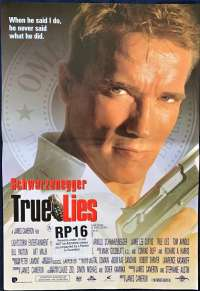 True Lies 1994 Mini Daybill Poster Arnold Schwarzenegger Jamie Lee Curtis