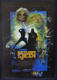 Star Wars Return Of The Jedi 1983 One Sheet movie poster 1997 Special Edition Reprint Struzan Art