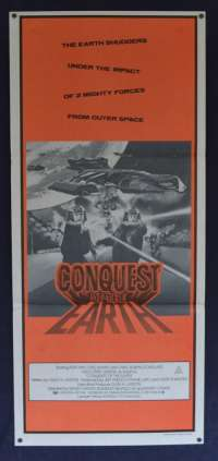 Conquest Of The Earth 1981 movie poster Lorne Greene Battlestar Daybill
