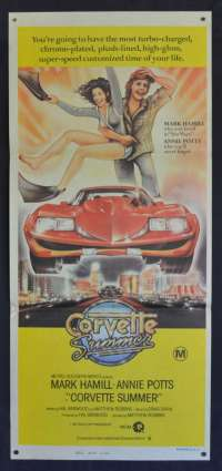 Corvette Summer 1978 Daybill movie poster Rare Mark Hamill Hot Rod Stingray