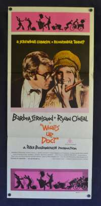 What's Up Doc Poster Original Daybill 1972 Barbra Streisand Ryan O'Neal
