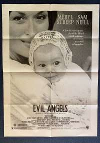 Evil Angels 1988 movie poster One Sheet aka Cry In The Dark Meryl Streep Sam Neil