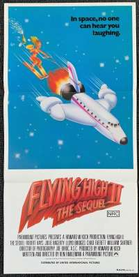 Flying High 2 Movie Poster Original Daybill 1982 Airplane Robert Hayes