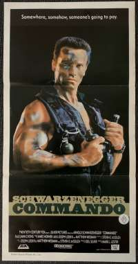 Commando Movie Poster Original Daybill 1985 Arnold Schwarzenegger