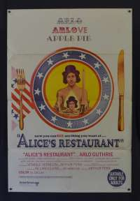 Alices Restaurant Poster Original One Sheet 1969 Arlo Guthrie Pat Quinn