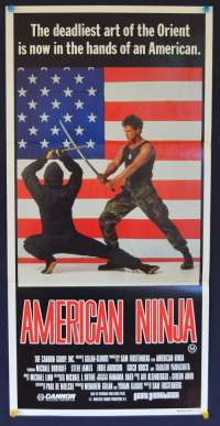 American Ninja Daybill movie poster