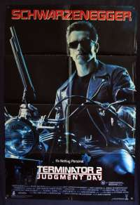 Terminator 2 movie poster Original One Sheet Arnold Schwarzenegger