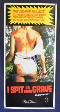 I Spit On Your Grave 1978 Australian Daybill Movie poster