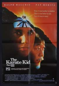 The Karate Kid Part 3 Movie Poster Original One Sheet 1989 Ralph Macchio Pat Morita