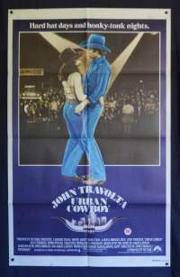 Urban Cowboy 1980 One Sheet Poster John Travolta Debra Winger Country Music