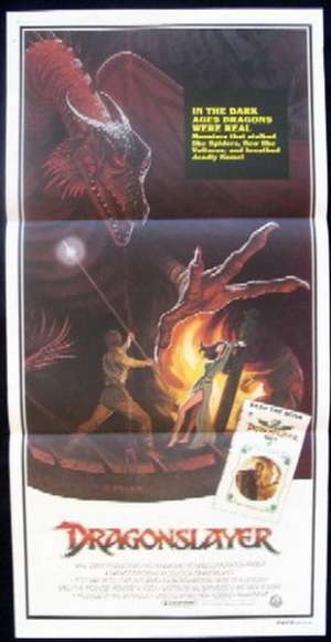 Dragonslayer 1981 Daybill Movie poster Dragon Best artwork