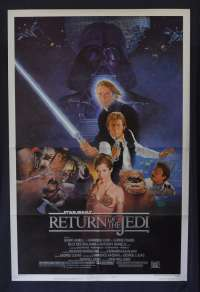 Return Of The Jedi Movie Poster Original One Sheet 1983 USA Style B
