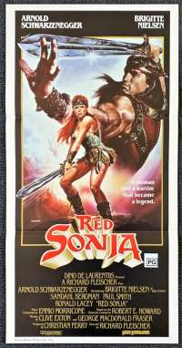 Red Sonja Daybill movie poster Arnold Schwarzenegger