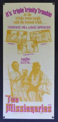 Two Missionaries Poster Original Daybill 1974 Bud Spencer Terence Hill