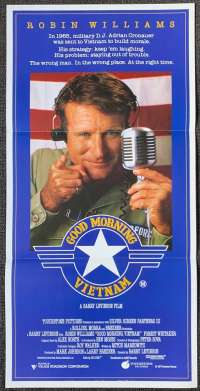 Good Morning Vietnam Poster Original Daybill 1987 Robin Williams Vietnam