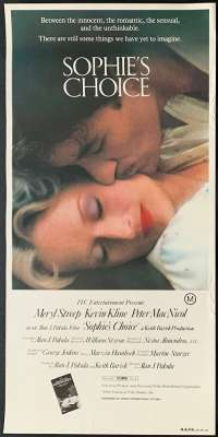 Sophie's Choice Movie Poster Original Daybill Rolled Never Folded 1982 Meryl Streep
