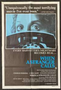 When A Stranger Calls Poster Original One Sheet 1979 Carol Kane Charles Durning
