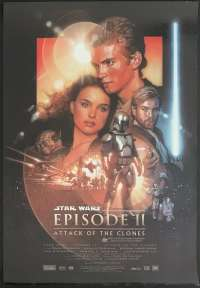 Star Wars Episode II Attack Of The Clones 2002 One Sheet movie poster original Drew Struzan artwork