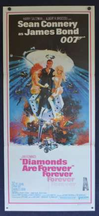 Diamonds Are Forever Daybill Poster Original 1971 Sean Connery James Bond