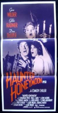 Haunted Honeymoon Daybill Movie poster