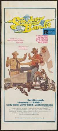 Smokey and The Bandit Movie Poster Original Daybill 1977 Burt Reynolds Sally Field