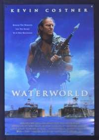 Waterworld Movie Poster Original Daybill Rolled 1995 Kevin Costner Sci-Fi