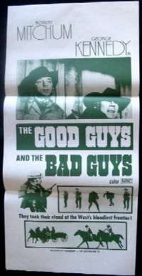 Good Guys And The Bad Guys, The Daybill Movie poster