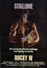 Rocky 4 Poster One Sheet Original USA International Sylvester Stallone Boxing