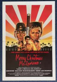Merry Christmas Mr Lawrence Movie Poster Original Daybill David Bowie Tom Conti