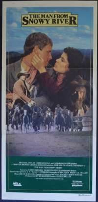 The Man From Snowy River Poster Original Daybill 1982 Tom Burlinson Kirk Douglas