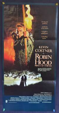 Robin Hood Prince Of Thieves Kevin Costner Alan Rickman Daybill movie poster
