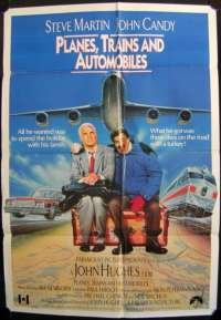 Planes, Trains And Automobiles 1987 One Sheet movie poster rare art UK International