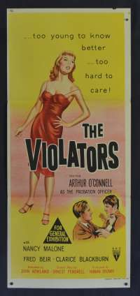 The Violators 1957 Daybill movie poster RKO Arthur O'Connell Nancy Malone