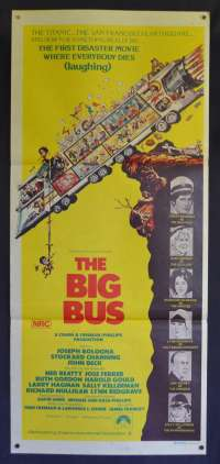The Big Bus Movie Poster Original Daybill 1976 Stockard Channing Joseph Bologna