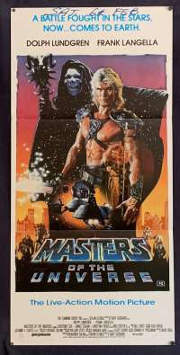 Masters Of The Universe Movie Poster Rare Original Daybill 1987 Dolph Lundgren