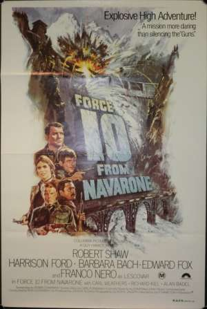 Force 10 From Navarone One Sheet Poster Original Harrison Ford Robert Shaw