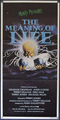 Monty Python's The Meaning Of Life 1983 John Cleese Daybill movie poster