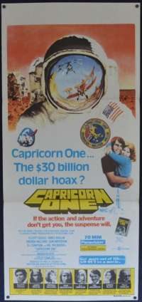 Capricorn One 1977 movie poster Daybill James Brolin