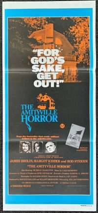 The Amityville Horror Movie Poster Original Daybill 1979 James Brolin Margot Kidder