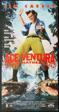 Ace Ventura When Nature Calls 1995 Daybill movie poster Jim Carrey