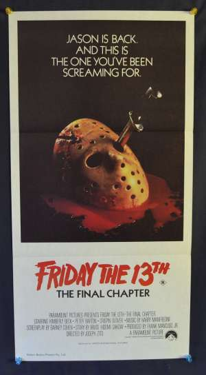 Friday The 13th The Final Chapter 1984 Daybill movie poster Kimberly Beck