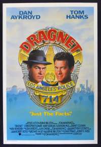 Dragnet Poster One Sheet Original 1987 Tom Hanks Dan Aykroyd Cops