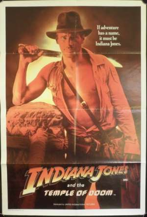 Indiana Jones And The Temple Of Doom movie poster one sheet Harrison Ford
