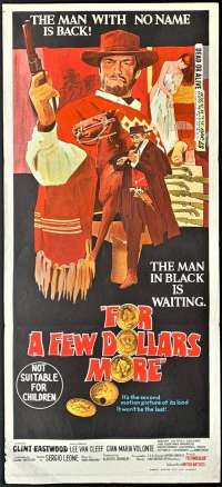 For A Few Dollars More Daybill Poster Original 1965 Clint Eastwood