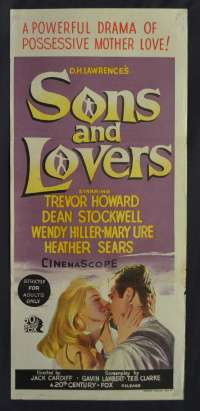 Sons And Lovers Trevour Howard Dean Stockwell Daybill movie poster