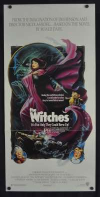 The Witches Movie Poster Original Daybill Anjelica Huston Roald Dahl