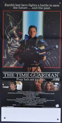 The Time Guardian Movie Poster Original Daybill 1987 Tom Burlinson Nikki Coghill